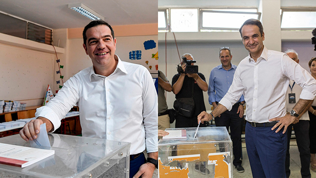 Former and future prime ministers vote in Greek elections (Photo: AFP, MCT)