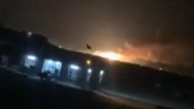 Aftermath of attack on Iranian missile depot in Iraq