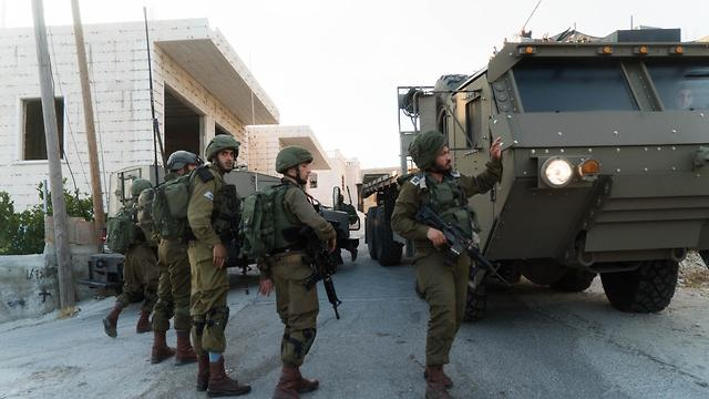 Israeli security forces during a manhunt for Sorek's killer (Photo: IDF Spokesperson's Unit)