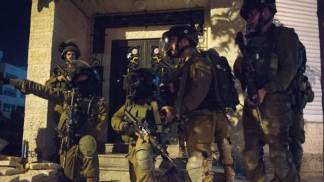 Yamam force during a manhunt for the suspects (Photo: IDF Spokesperson's Unit)