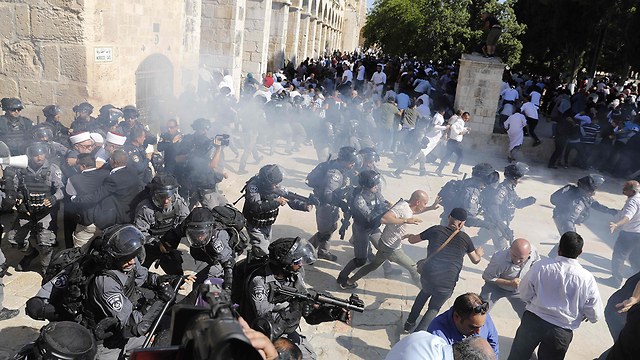 Clashes on Temple Mount (Photo: AFP)