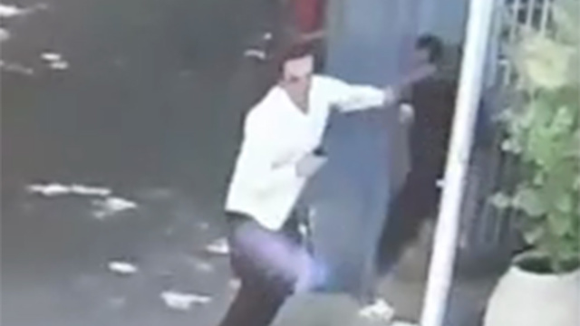 An Allenby Terminal worker fights off his Palestinian attacker