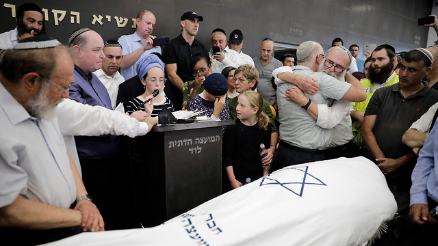 The funeral for Rina Shnerb in Lod (Photo: AP)