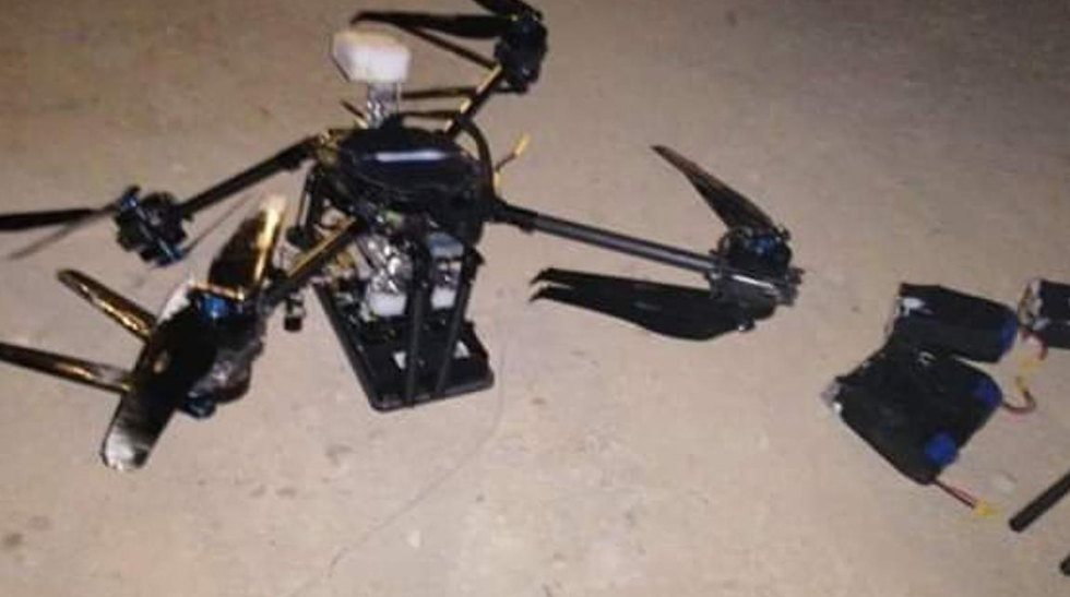 An Israel drone allegedly seized and dissected by Hezbollah
