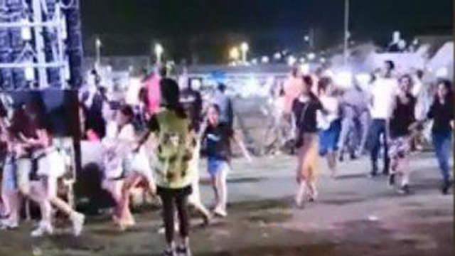 Festivalgoers look for shelter in Sderot