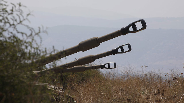 IDF artillery on the Israel-Lebanon border (Photo: AFP)