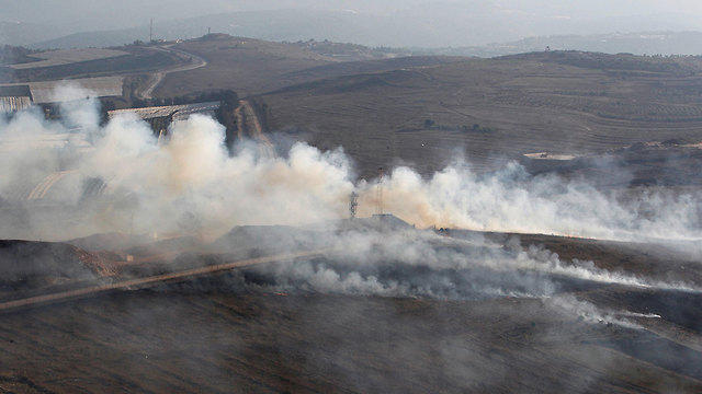 Smoke from IDF shellings in Lebanon (Photo:Reuters) (Photo: Reuters)
