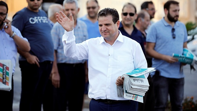 Joint List leader Ayman Odeh on the campaign trail (Photo: Reuters)