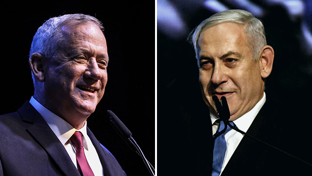 Blue and White leader Benny Gantz (left) and Likud leader Prime Minister Benjamin Netanyahu (Photo: MCT)