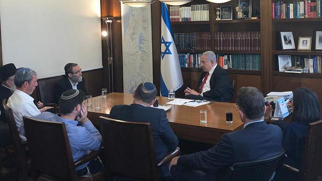 The heads of the right-wing factions meeting with Benjamin Netanyahu on Wednesday