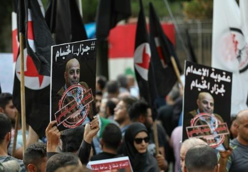 Lebanese citizens protest against the return of Amer al-Fakhoury (Photo: AFP)