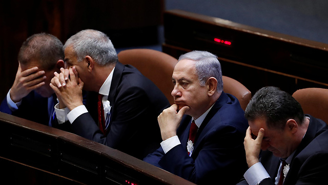 Prime Minister Netanyahu at swearing in ceremony of the 22nd Knesset (Photo: Reuters)