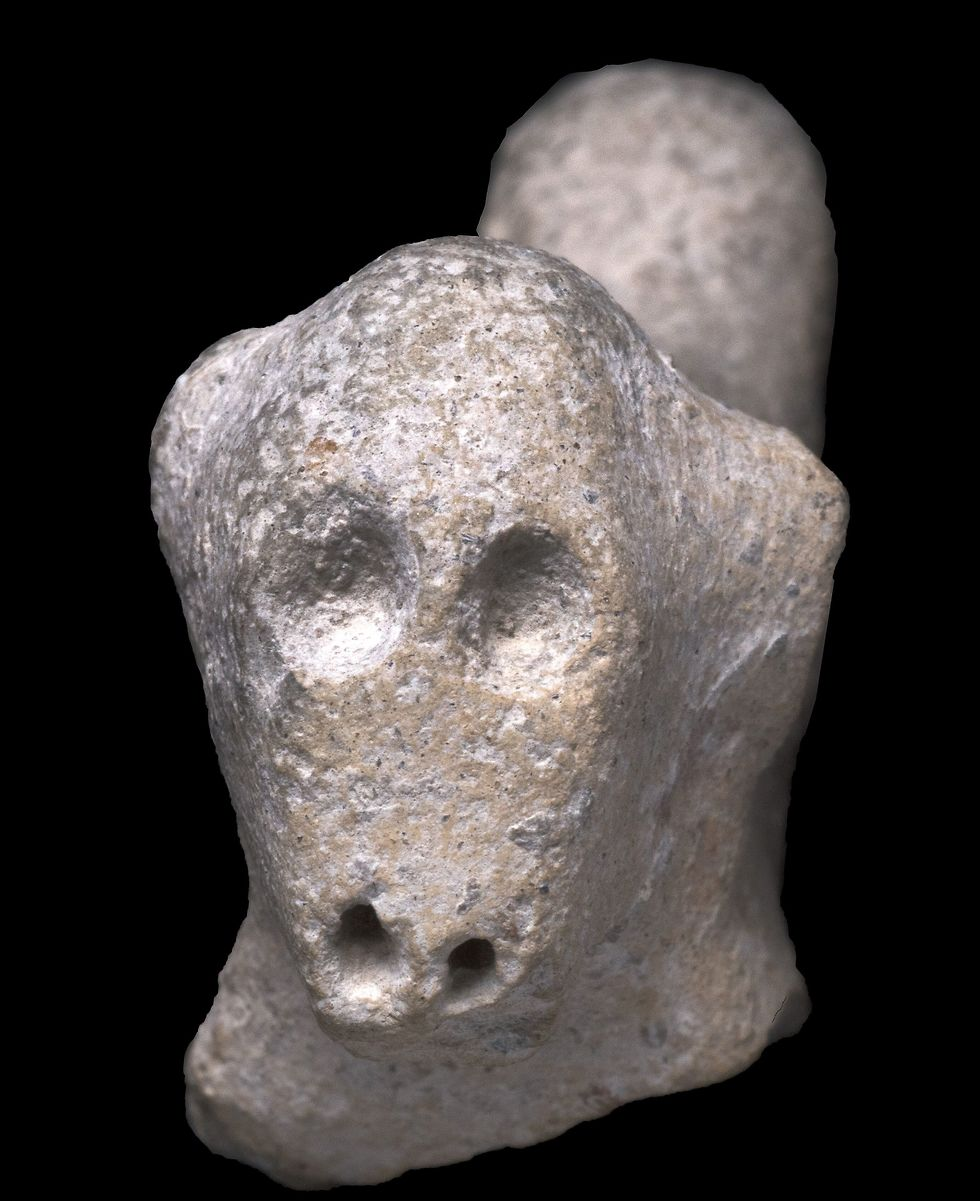 Statues dating back thousands of years were found at the dig site  (Photo: Clara Amit, Israel Antiquities Authority)