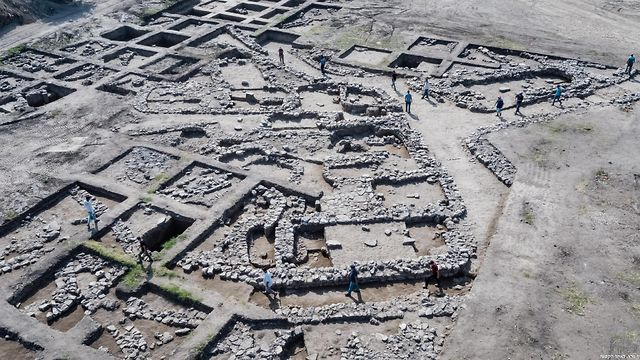 The ancient city (Photo: Assaf Peretz, Israel Antiquities Authority)