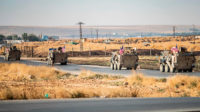 American forces leaving the Syrian city of Tal Baydar (Photo: AFP)