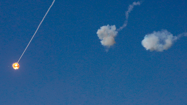 Iron Dome intercepts a Gaza rocket over Sderot (Photo: AFP)