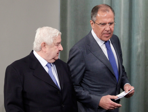 Moallem with Russian Foreign Minister Sergey Lavrov in 2012