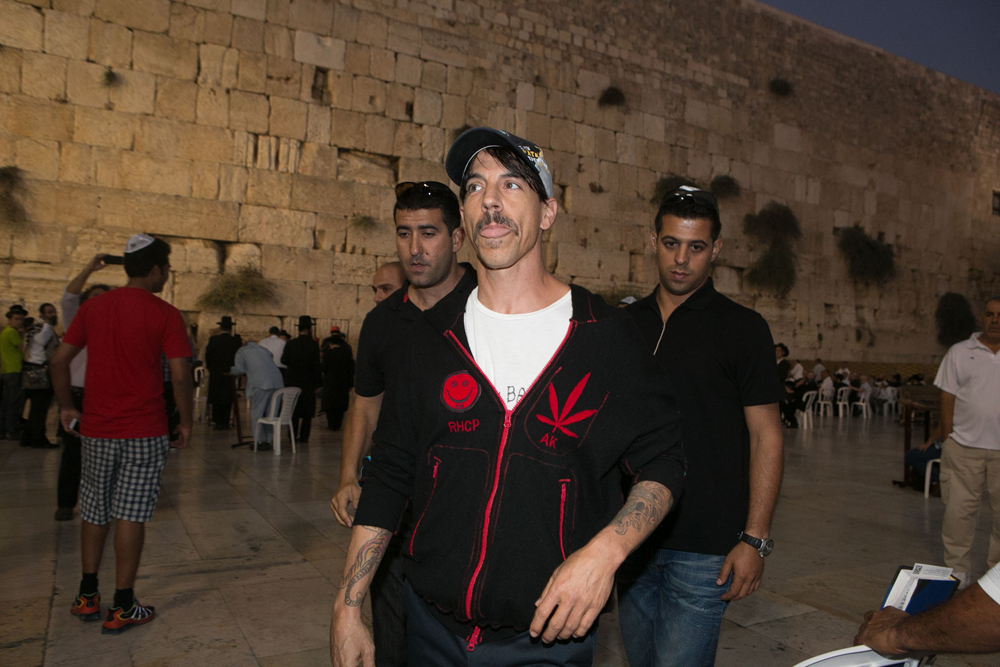 Red Hot Chili Peppers visit the Western Wall in 2012