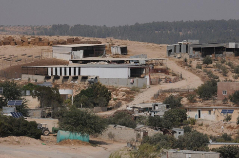 The Bedouin village of Umm al Hiran where many buildings were designated for demolition after being built without permits