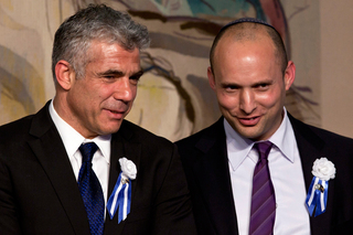 Yesh Atid leader Yair Lapid and Yamina head Naftali Bennett
