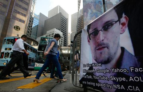 Poster supporting Edward Snowden in China