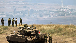 IDF soldiers near the Syrian border on the Golan Heights