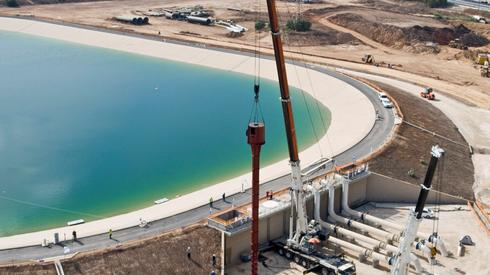 A Water Authorities' reservoir in central Israel