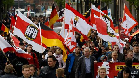 Supporters of ultra-nationalist NPD party demonstrate in Germany
