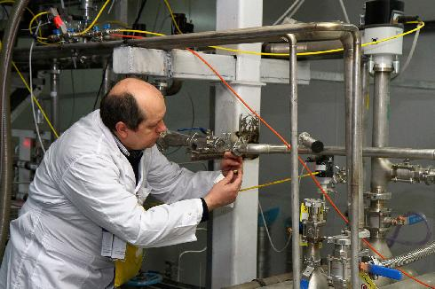 An IAEA inspector at the Natanz nuclear facility in central Iran