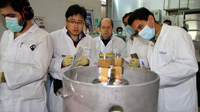 IAEA inspectors at the Natanz nuclear facility in Iran