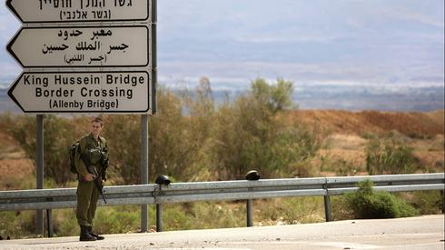 An IDF soldier near the Allenby Bridge border crossing with Jordan