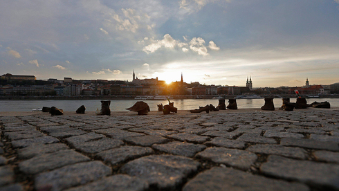 The shoes on the Danube Bank, a holocaust memorial in Budapest
