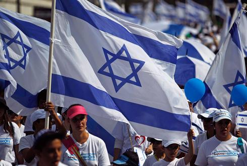 Pro-Israel rally in Guatemala during Operation Protective Edge in 2014
