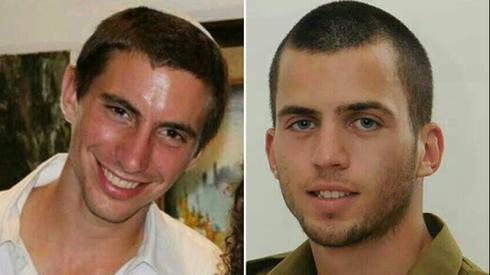 Hamas is believed to be holding the bodies of IDF soldiers Hadar Goldin, left, and Oron Shaul, who were killed in the 2014 Gaza war