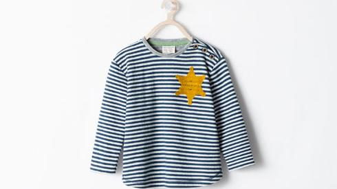 Zara's striped shirt with a yellow star meant for children