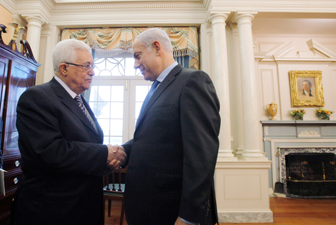 Palestinian President Mahmoud Abbas and Prime Minister Benjamin Netanyahu during a meeting in Washington in 2010