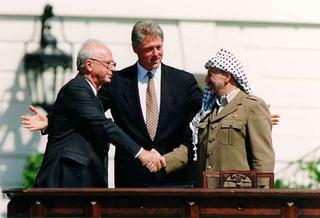 The signing of the 1993 Oslo Accords
