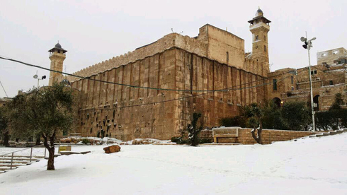 Cave of the Patriarchs covered in snow a few years ago