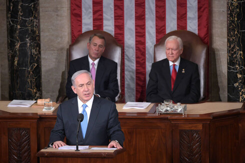 Prime Minister Benjamin Netanyahu addressing Congress in March 2015