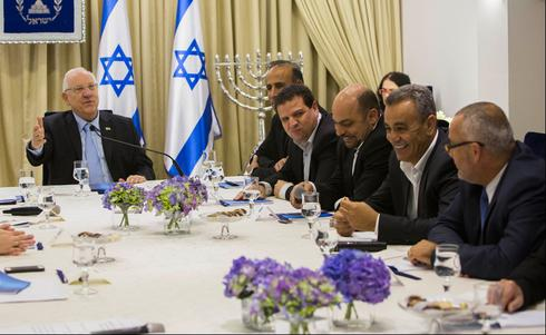 Members of the Joint List visiting President Reuven Rivlin