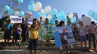 Israeli children protesting poor schooling conditions in the country