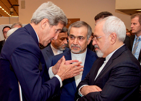 Then-secretary of state John Kerry with Iranian counterpart Mohammad Javad Zarif in 2015