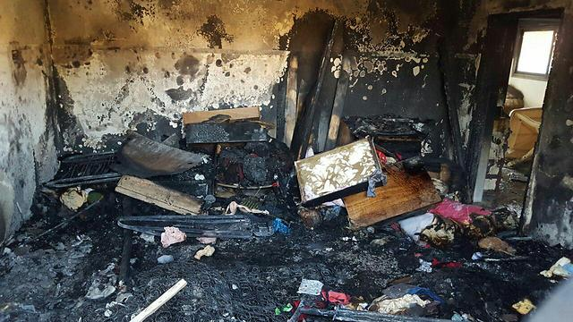 The remains of the Dawabsheh family home after the arson attack