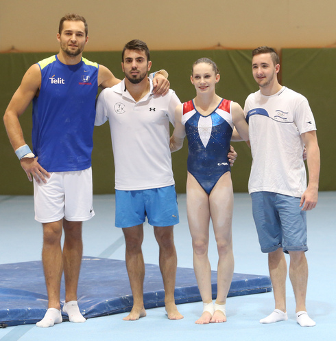 A young Dolgopyat (right) with Israeli Olympic gymnast and close friend Alex Shatilov (left)