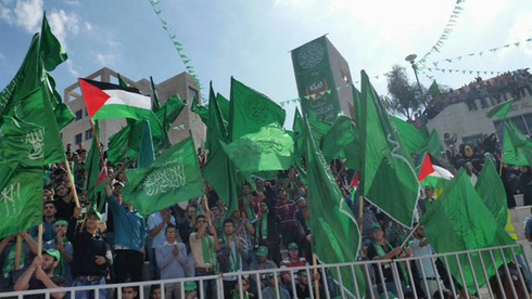 A Hamas rally in the West Bank city of Nablus