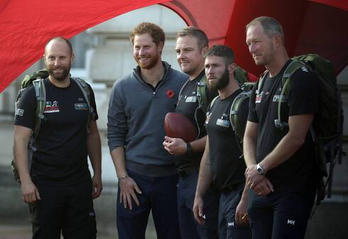 Prince Harry meeting with British veterans of the war on Afghanistan