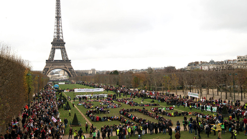 An event marking the signing of  the Paris climate accord in 2015