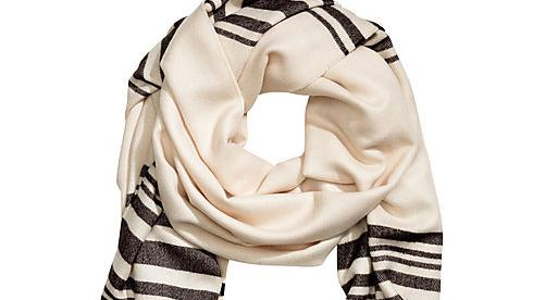 H&M's scarf reminiscent of tallit