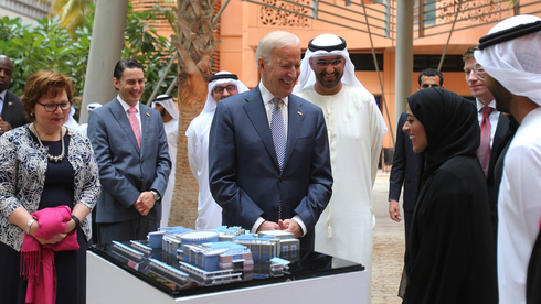 President-elect Joe Biden in the UAE in 2016, during his term as vice president