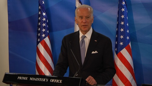 U.S. President-elect Joe Biden on a visit to Israel in 2016, during his term as vice president